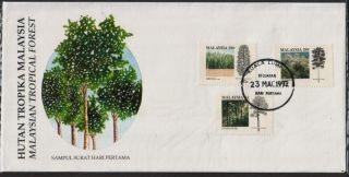 Malaysia 1992 Malaysian Tropical Forest Fdc Cover photo