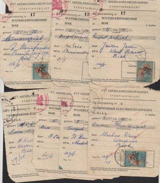 Nederlands Nieuw Guinea West Irian Indonesia Untea Stortingsbiljet 1963 & 1966 photo