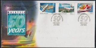 50 Years Of Aviation In Malaysia 1997 Msa Mas Airlines Aircrafts Aeroplanes Fdc photo