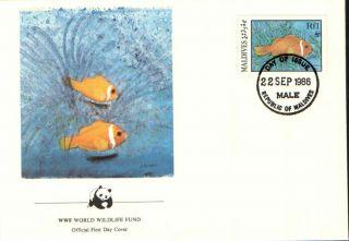 (70263) Fdc Maldives - Sea Fish - 1986 photo