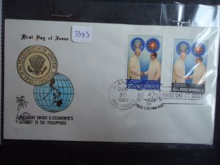Philippines 1960 Eisenhower Visit First Day Cover photo