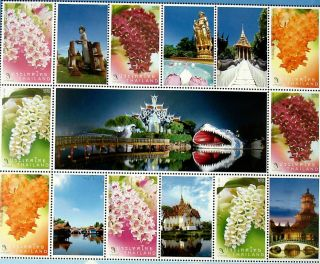 Ancient Siam,  Ancient City Thailand (6 Designs In A Sheet) Thai Orchids,  Flowers photo