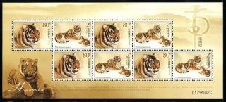 China Stamp 2004 - 19 South China Tiger 华南虎 M/s photo