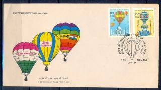 J353 - India 1983.  Manned First Flight Taj Mahal Hot Balloon Parachute. photo