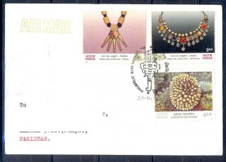 K284 - Postal Cover.  Posted From India To Pakistan.  Jewellery. photo