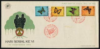 Indonesia B156 - 9 Fdc Butterflies photo