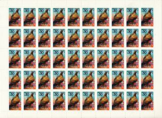 Kyrgyzstan - 1992 - Bird Of Prey - Golden Eagle - Full Sheet - High Value photo