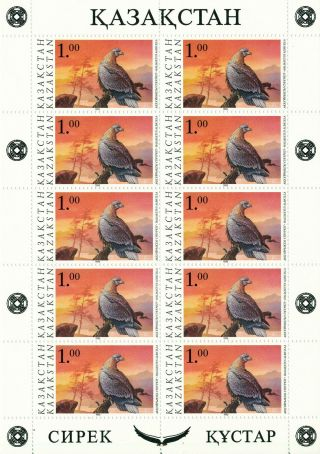 Kazakhstan - 1995 - Birds Of Prey - 2 X Sheetlets - photo