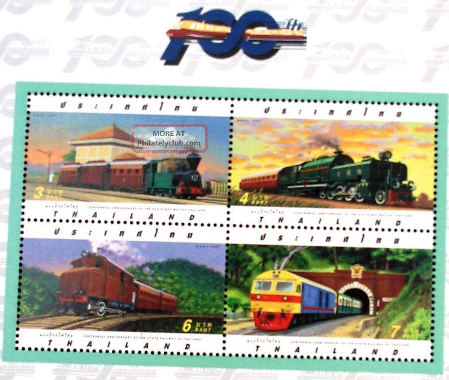 Stamp 2010 Centennial Ann.  State Raiway Of Thailand,  Transportation,  Trains,  Asean Asia photo