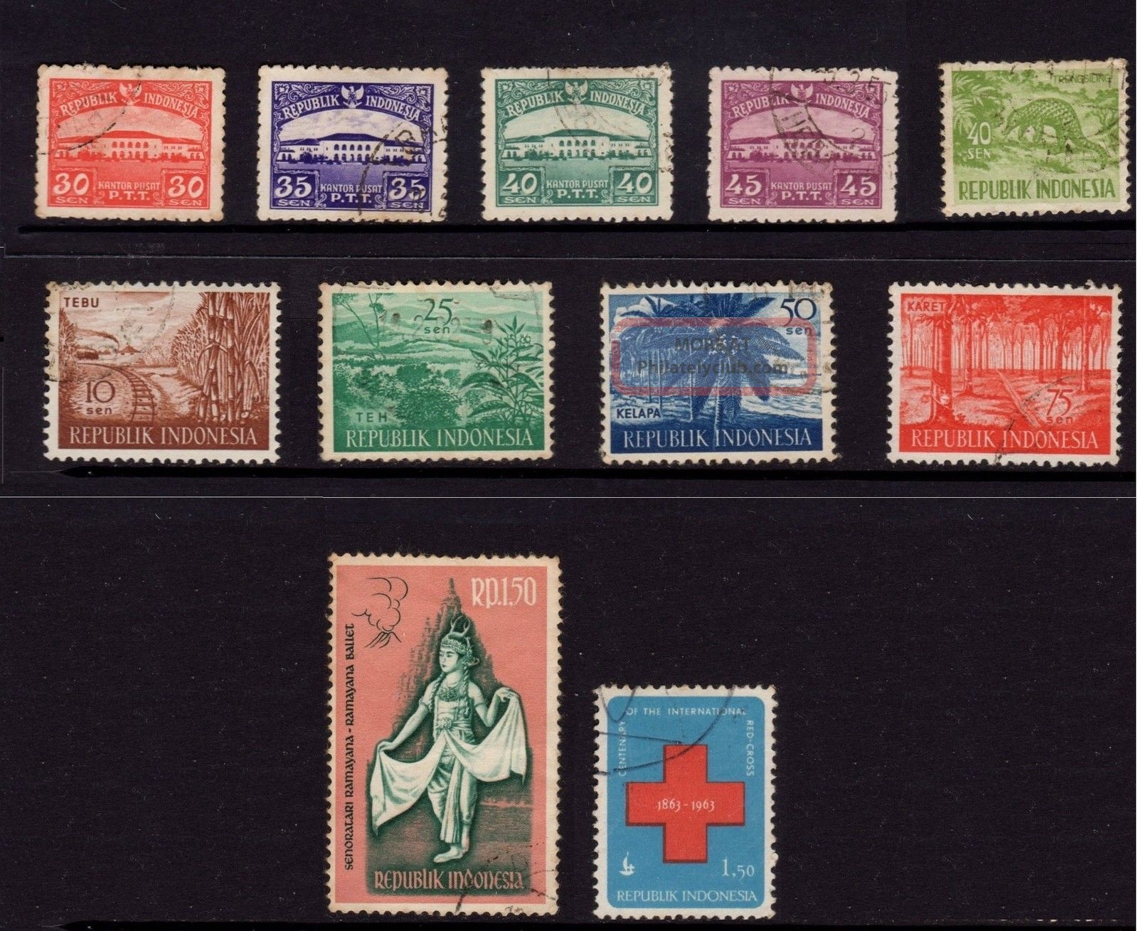 Indonesia,  Sc 377,  378,  379,  380,  451,  495,  498,  499,  500,  547 & 601, Asia photo