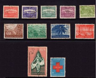 Indonesia,  Sc 377,  378,  379,  380,  451,  495,  498,  499,  500,  547 & 601, photo