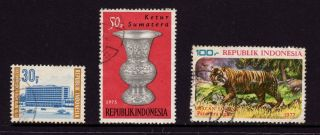 Indonesia,  1970 Sc 786 U.  P.  U,  1975 937 Spittoon & 1978 1035 Tiger, photo