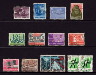 Indonesia,  Sc 626,  630,  636,  640,  766,  768,  771,  772,  773,  775,  966 & 1353, photo