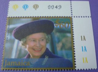 Royal Queen Elizabeth11 Jamaica Stamp Visiting Gloucester 1995 photo