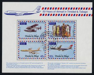 Trinidad & Tobago 271a - Aircraft,  50years Of Airmail photo