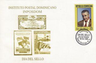 Dominican Stamp Day Nino Ferrua Sc 1286 Fdc 1998 photo