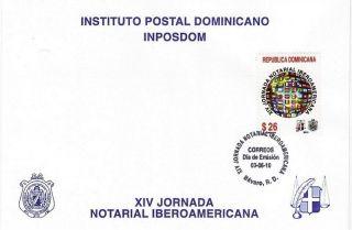 Dominican Xiv Iberoamerican Notaries Meeting Sc 1481 Fdc 2010 photo