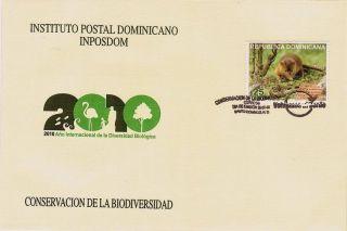 Dominican Biodiversity Protection,  Solenodon Parodoxus Sc 1483 Fdc 2010 photo