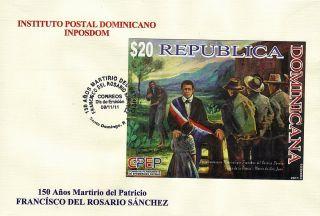Dominican Martyrology Of Francisco Del Rosario Sanchez Imperf Sc 1511 Fdc 2011 photo