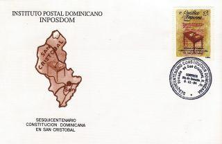 Dominican Constitution 15o Anniv In San Cristobal Sc 1171 Fdc 1994 photo