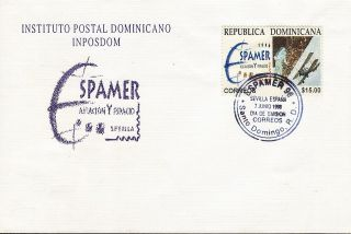 Dominican Espamer ´96 Seville Sc 1223 Fdc 1996 photo