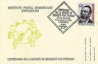 Dominican Heinrich Von Stephan Founder Of Upu Sc 1252 Fdc 1997 photo