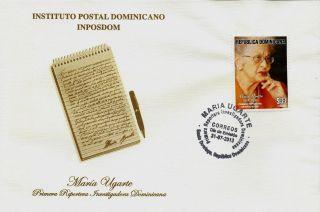 Dominican Tribute To María Ugarte Investigative Reporter Fdc 2013 photo