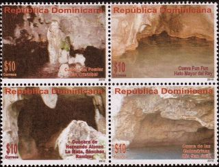 Dominican Protected Caves Block Of 4 Sc 1501 2011 photo