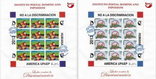 Dominican Upaep Fight Against Discrimination Full Sheet 2 Fdc 2014 photo