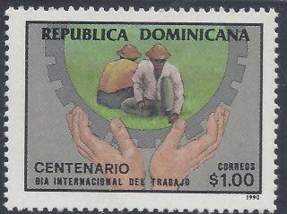 Dominican Labor Day Cent.  Sc 1080 1990 photo