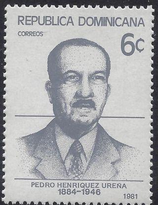Dominican Historian Pedro Henriquez Urena Sc 847 1981 photo