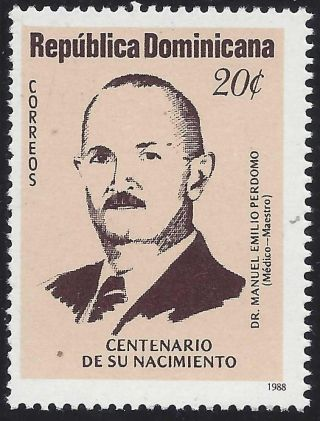 Dominican Dr.  Manuel Emilio Perdomo Sc 1027 1988 photo