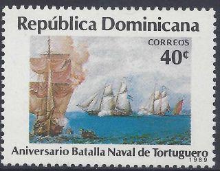 Dominican Battle Of Turtuga Sc 1050 1989 photo