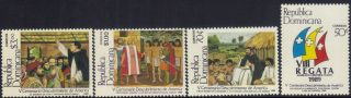 Dominican Discovery Of America Sc 1067 - 70 1989 photo