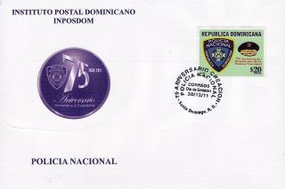 Dominican National Police Sc 1515 Fdc 2011 photo