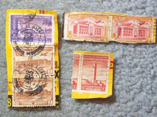 Stamp Dominican Republic 1944 – 1949 Air Mail Ap30 C68 37c A100 442 20c Ap32 photo
