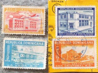 Stamp Dominican Republic 1941 – 1950 A81 380 17c,  A100 441 15c,  Ap24 C51 25 photo