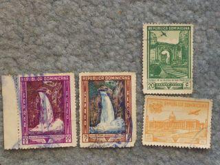 Stamp Dominican Republic 1947 - 1949 Air Mail Ap29 C66 50c C67 75c Ap30 C69 1$ photo
