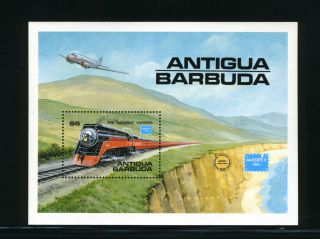Antigua,  Scott 938,  Ameripex 1986 - The Daylight Express,  Souvenir Sheet,  1986 photo