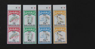 Bahamas 1992 Barcelona 92 Summer Olympic Games Pairs Sport Scott 755 - 8 photo