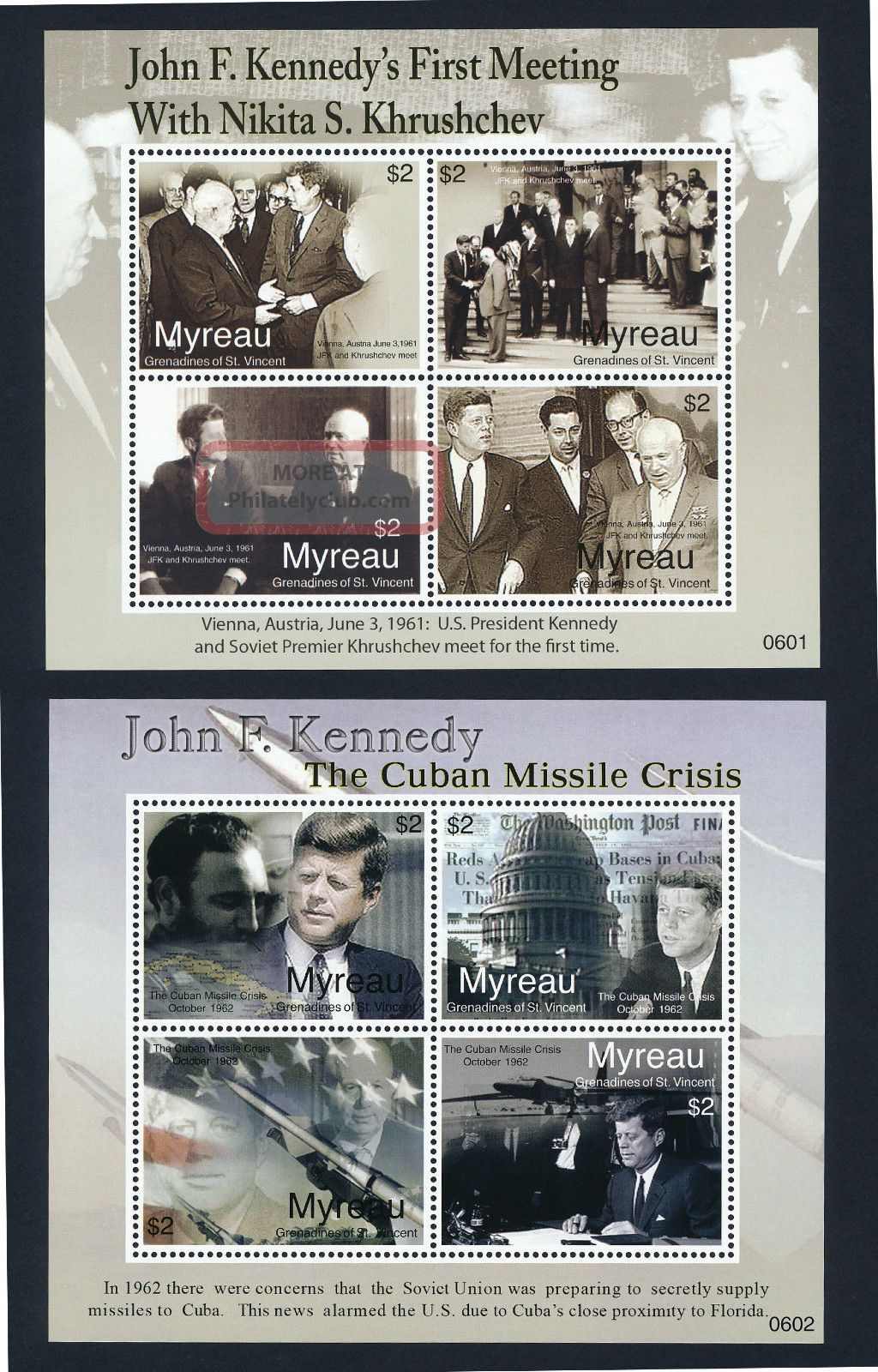 St Vincent Grenadines Myreau 1 - 2 Kennedy,  Missile Crisis,  Aircraft Caribbean photo