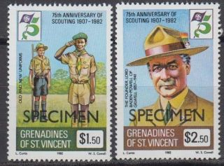 Specimen,  St.  Vincent Grenadines Sc246 - 7 75th Anniversary Of Boy Scouts photo