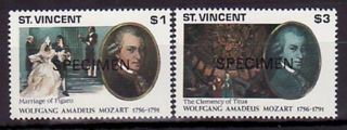 Specimen,  St.  Vincent Sc1543 - 4 Music,  Mozart photo