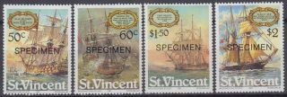 Specimen,  St.  Vincent Sc615 - 8 Sailing Ships photo