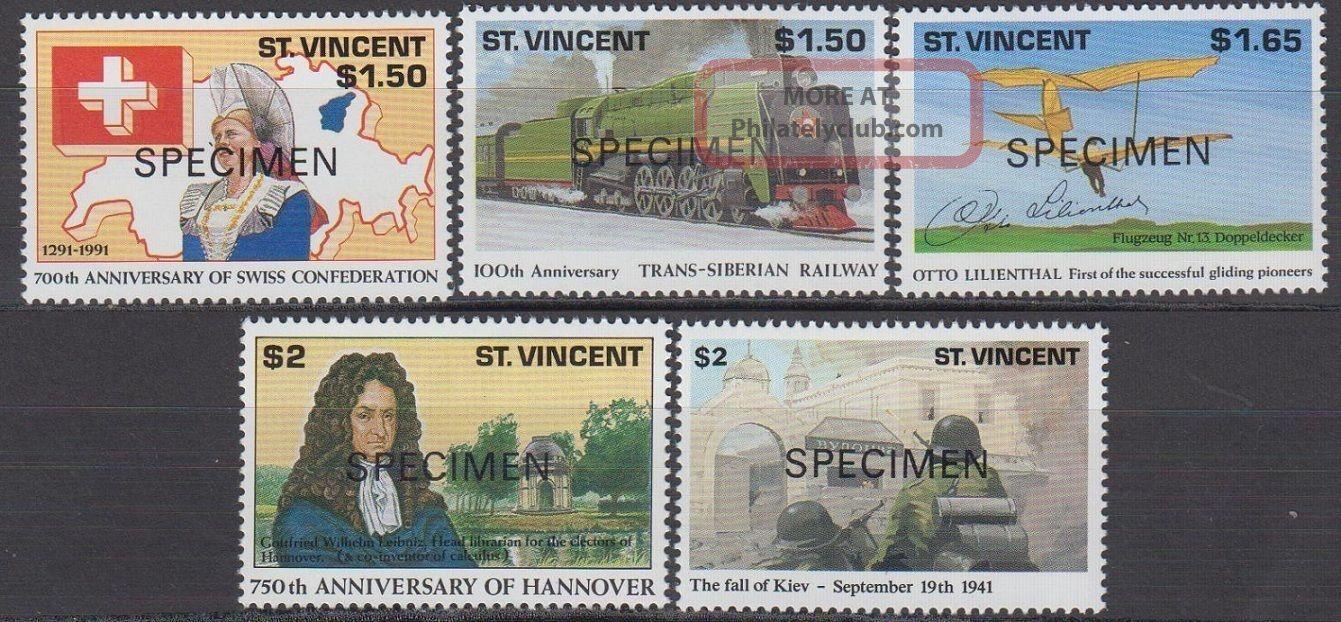 Specimen,  St.  Vincent Sc1554 - 8 Trans - Siberian Railway,  Otto Lilienhal. . . Caribbean photo
