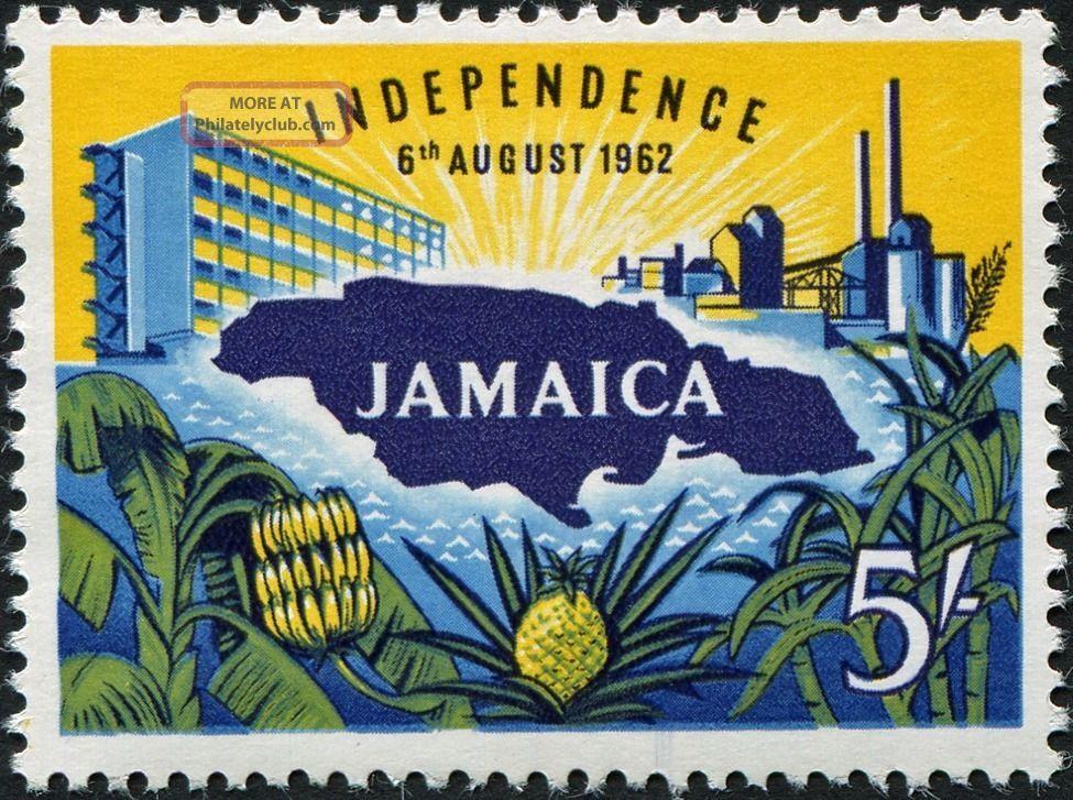 Jamaica 1962 - 3 5s Multicoloured Sg196 £10.  00 Mh Caribbean photo