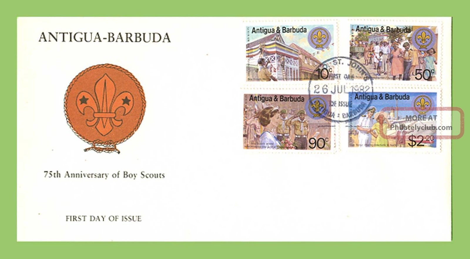 Antigua & Barbuda 1982 Scouts First Day Cover Caribbean photo
