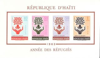 Haiti 1962 Year Of The Refugees S/s (c192a) photo