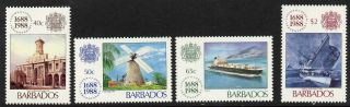 Barbados 731 - 4 Ships,  Lloyd ' S,  Architecture photo