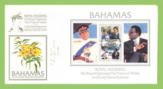 Bahamas 1981 Royal Wedding Miniature Sheet First Day Cover photo